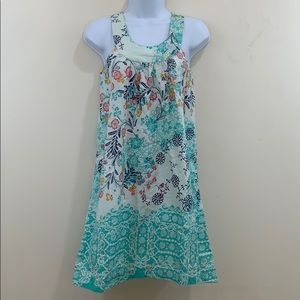 Red Camel Sleeveless Floral Cotton Dress  Size 1